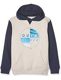 Quiksilver Ofthewoody280- Sudadera con capucha para niños, Niños, Sudadera, Ofthewoody280, Snow White Heather, M