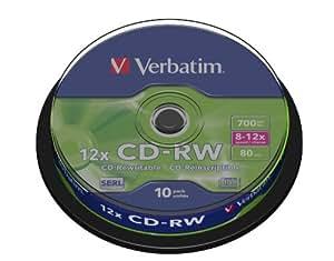 Verbatim (43480) : CD-RW 12 x 10-pack : Optical Media