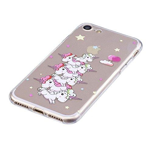 iPhone 7/iPhone 8 4.7 Hülle, Voguecase Silikon Schutzhülle / Case / Cover / Hülle / TPU Gel Skin Handyhülle Premium Kratzfest TPU Durchsichtige Schutzhülle für Apple iPhone 7/iPhone 8 4.7(Stützen-Unic Stützen-Unicorn 12