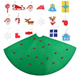 Beetest Diy Christmas Tree for Children, 3D DIY Felt Christmas Tree with 18pcs Toddler Friendly Christmas Tree Hanging Ornaments for Kids Xmas Gifts Christmas Home Decorations Bild 2