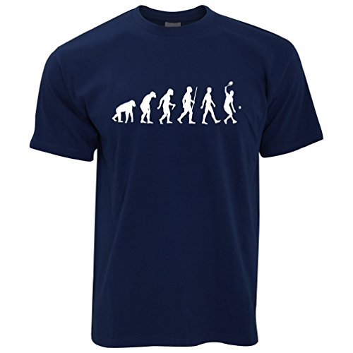 des Sports T-Shirt Evolution d'un Joueur de Tennis Navy...