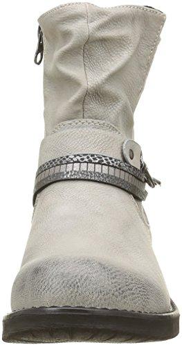Tom Tailor 1695602, Bottes Motardes Femme Blanc (Offwhite)