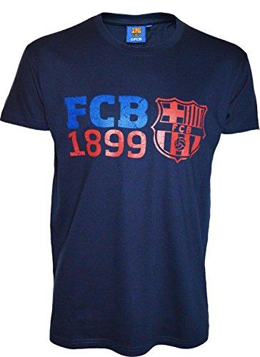F.C. Barcelona - Herrentrikot, offizielle Kollektion, Erwachsenengröße XL marineblau - Mütze Messi Barcelona Offizielle Fc