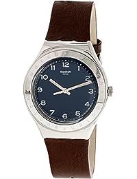 Swatch tannage ygs139 plata piel Swiss Quartz reloj