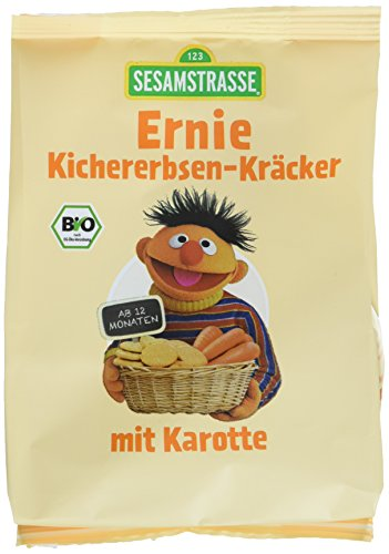 Sesamstrasse Bio Ernie Kichererbsen-Kräcker, 5er Pack (5 x 100 g)