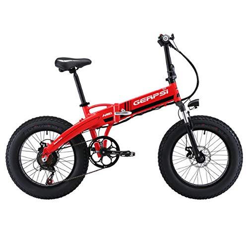 SHIJING Bicicleta de montaña eléctrica e Moto aleación de Aluminio de 4.0...