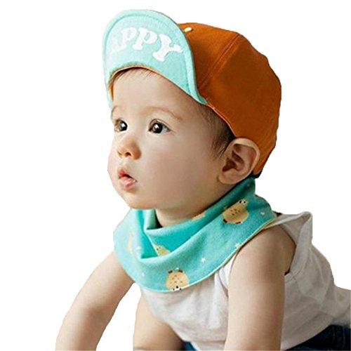 Unisex Bebè Moda Estate Cotone Cappello Da Sole Cappellino Da Baseball Berretto Con Visiera Cappello Dei Bambini, Arancio