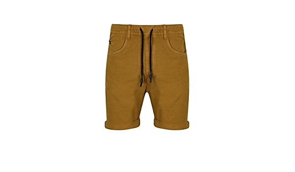 TOKYO LAUNDRY MENS COLOURED KNITTED DENIM CASUAL TURN UP SHORTS 1G9218 ATLAS