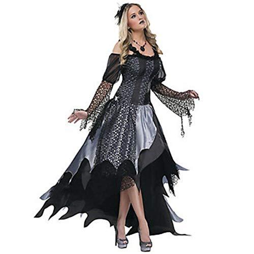 MISSDIVA Damen Kleid Damen Elegant,Damen Mitternacht-Vampir Kostüm, Kleid