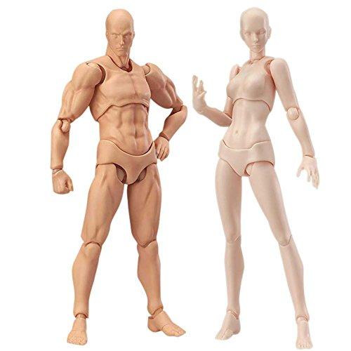 205414712e Starall Una Coppia di Action Figure Model, Human Mannequin Man + Woman Action  Figure Set