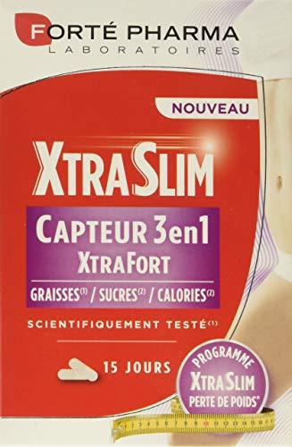 Forté Pharma XtraSlim Capteur 3 en 1 Xtra Fort 60 gélules| Capteur de Graisses, Sucres et Calories