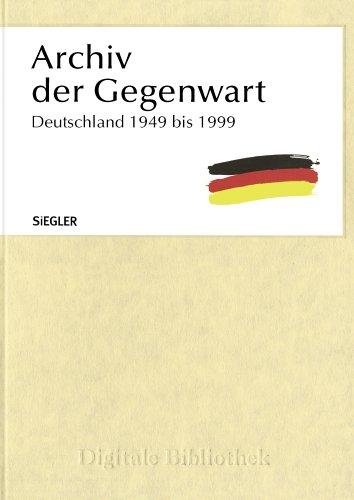 Directmedia Archiv der Gegenwart - Deutschland 1949 bis 1999