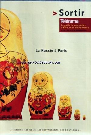 TELERAMA SORTIR [No 85] du 12/12/2001 - LA RUSSIE A PARIS - KURT ELLING - DAVID LINX - DIEDERIK WISSELS ET PAOLO FRESU - ENRICO PIERANUNZI QUARTET - EDDY LOUISS ET RICHARD GALLIANO - PH. VAL - HOMMAGE A GRIBOUILLE - LIO CHANTE PREVERT - NICOLE CROISILLE - RUDOLF TOBIAS - ORCHESTRE DE TBILISSI-GEORGIE - ORCHESTRE LAMOUREUX
