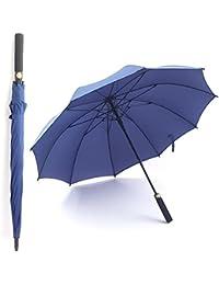 BiuTeFang Paraguas Negocio de gran tamaño Paraguas sartén recto paraguas de golf de apertura automática de