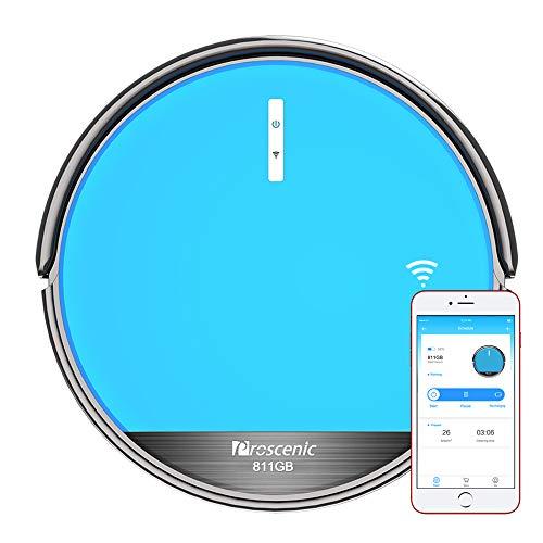 Foto Aspirapolvere Robot, Proscenic 811GB Intelligente Blu(2 in 1: robot...