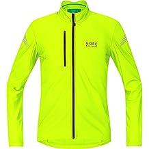 Gore Bike Wear Element Thermo - Maillot de ciclismo para hombre, color negro/ amarillo flúor (neon yellow), talla M