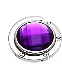 SODIAL(R) Pliante Bourse sac a main Support Cristal Sac Crochet Cintre Support Portable Violet