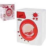 Unbekannt Kinder Spielzeug Waschmaschine mit Licht und originalgetreuen Geräuschen, rot und weiß - Haushalts Gerät Zubehör
