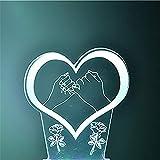 WJPDELP-YEDE 3D Liebe Herz Häkeln Handgemachte Rosen Modellierung LED Tischlampe USB Bunte Nachthimmel Schlafzimmer Nacht Schlaf Beleuchtung Dekor Kinder Geschenke