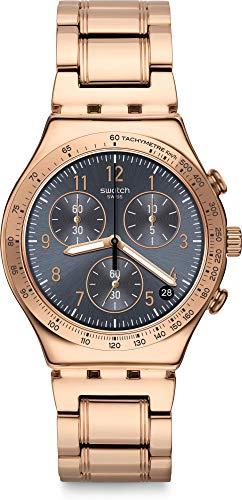 Swatch Orologio Analogico Quarzo Unisex Adulto con Cinturino in Acciaio Inox YCG418G