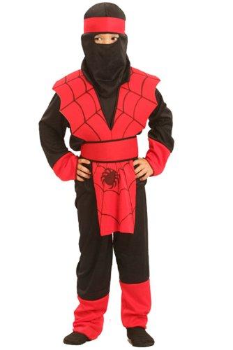 Generique - Ninja-Kostüm Spinne für Jungen 134/140 (10-12 Jahre) (Ninja Kostüm Spinne)