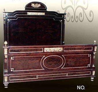 LouisXV Barock edles Bett Rokoko Louis XV MoBd07704 antik Stil Massivholz. Replizierte Antiquitäten...