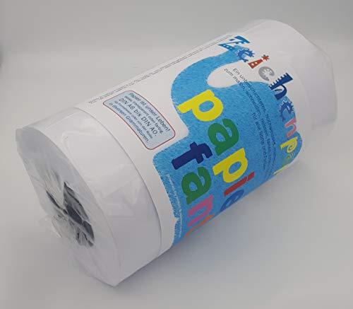 Zeichenpapier auf Rolle von papierfant.de - Länge: 150 Meter - Breite: 30cm - Jumborolle in wiederverschliessbarer Verpackung - DIN A4 - weiß - glatt - matt - Malpapier (Glatte Rollen)