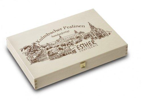 großes Holzschatzkästchen - Pralinen / Inhalt: 290g