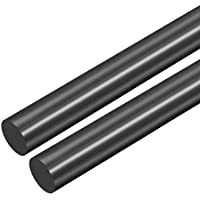 sourcing map Barra redonda de plástico, Barra POM, Varilla de 21mm de diámetro de Barra redonda de plástico de ingeniería negro 2uds