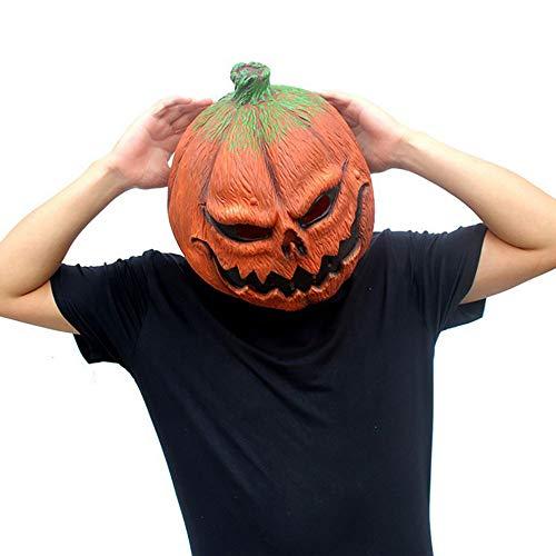Halloween Maske Kürbiskopf Maske Lustiges Gesicht Latex Tanzparty Kleid Spielt Die Kopfbedeckung Halloween Kürbis Teufel Kopfbedeckungen Unisex 1 Stück Stücke Erwachsenen Geschenk,Orange,Onesize