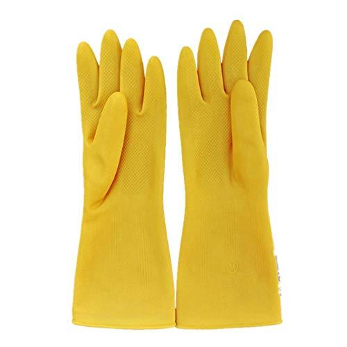 alische Gummihandschuhe Latexhandschuhe Hausküche Wäsche Reinigung wasserdicht verschleißfest Sanitärgummihandschuhe gelb_L ()