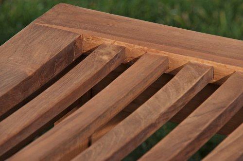 CLP Teakholz Garten-Bank HAVANA V2 ohne Lehne, Teak-Holz massiv (bis zu 8 Größen wählbar) 160 x 45 x 45 cm - 5