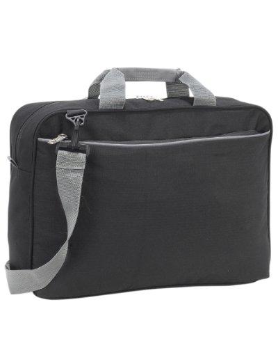Shugon-Kansas conferenza manici rinforzati Webbed-Grande borsa per spesa Nero