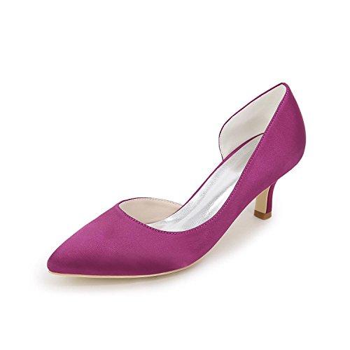 L@YC Tacchi alti Delle Donne Primavera / Estate / autunno aperto Satin abito Da Sposa / Party & Sera / Vestito Purple