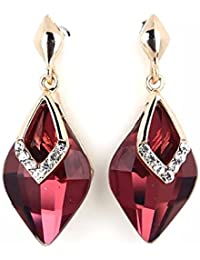 Shining Diva Fashion AAA High Quality Gold Plated Crystal Stylish Fancy Party Wear Earrings For Women & Girls
