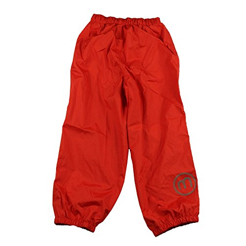 MINYMO Mädchen Regenhose Basic 23-Rain Pants-Solid, Red (High Red), 3 Jahre