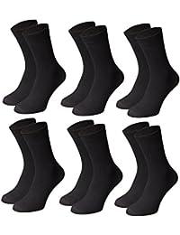 6 Paar MFL Herrensocken. Freizeit oder Business Herren-Socken mit hohem Baumwollanteil. Schwarze Herren Socken in optimaler Verarbeitungsqualität und hohem Tragekomfort