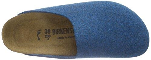 Birkenstock Classic Amsterdam Birkofilz Unisex-Erwachsene Clogs Blau (Petrol)