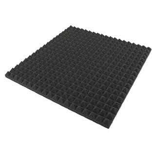 Akustikpur - 1 M² - 4 pcs Approx 50 cm X 50 cm X 3 cm - Acoustic Foam, Acoustic Foam Pyramids, Acoustic Isolierung, Acoustic Foam Insulation Boards, Noise Protection