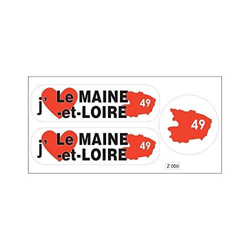 Brett A4Aufkleber-Abteilung 49ICH MAG den Maine und Loire selbstklebend
