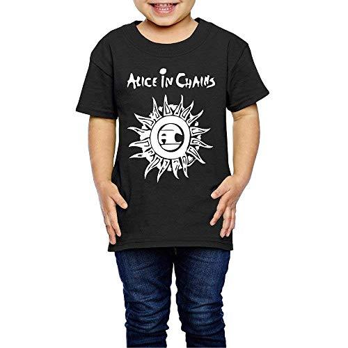 Solid-footed Sleeper Pajamas (Kinder Jungen Mädchen Shirts Alice in Ketten T Shirt Kurzarm T-Shirt Für Kleinkind Jungen Mädchen Baumwolle Sommer Schwarz 3 T)