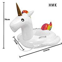 huimeikang HMK 2018 Mini Kids Swimming Ring Floating Pool, Pool Party Floating Animal Air Mattress, Unicorn Floating Raft Bathing Toy Suitable for Children From 3-6 Years (Unicorn) (Mini Unicorn)