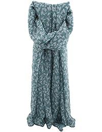 Zest Debbie Delicate Floral & Leaf Fashion Scarf