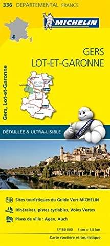 Pyrenees Michelin - Carte Gers, Lot-et-Garonne