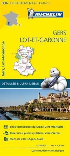 Carte Gers, Lot-et-Garonne Michelin