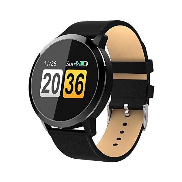 Pulsera deportiva Smart Smartwatches,rastreador de actividad física,Podómetro/Detección de frecuencia cardíaca/Anti-perdida/Recordatorio de tareas/Mensaje telefónico,Smartwatch mujeres hombres,Gold 1