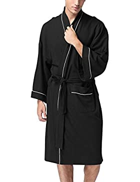 Dolamen Accappatoio per Donna e Uomo, Morbido e leggero Cotone Pigiama Sleepwear, Robe Accappatoio damigella d'onore...