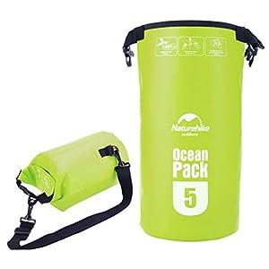 KinshopS Wasserdichte Packsack NatureHike 5L Multifunktionale Ultralight 500D Ozean im Freien Wasserdichte Rafting Bag Dry Bag Für Treiben Schwimmen Camping
