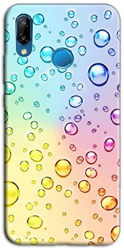 mixroom - cover custodia case in tpu silicone morbida per wiko view 3 lite fantasia bollicine multicolore z420
