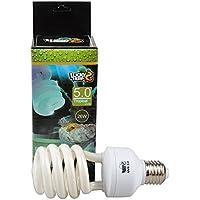 Bombilla compacta fluorescente para reptiles, UVA UVB 5.0, 13W, 26W disponible